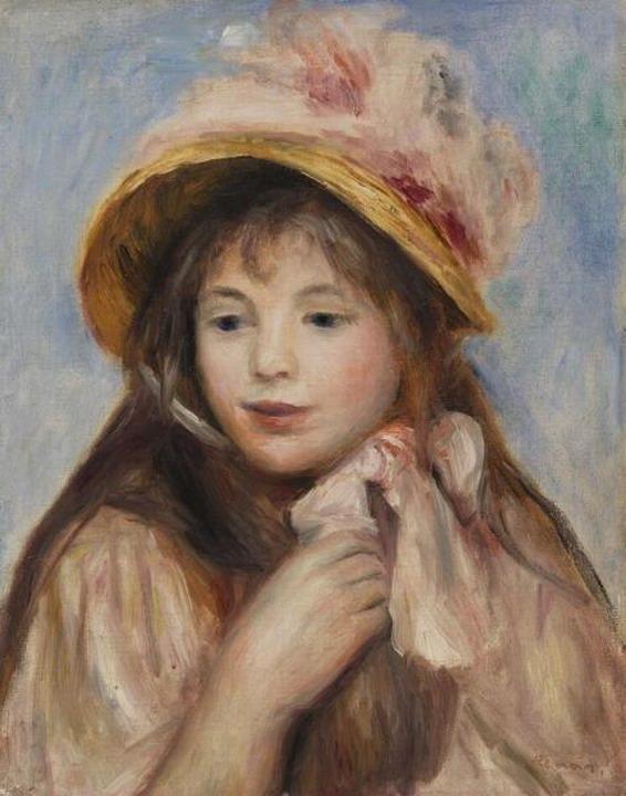 Resize of (Jeune fille au chapeau rose) 1894