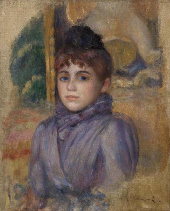 Resize of (Portrait de jeune femme) 1885