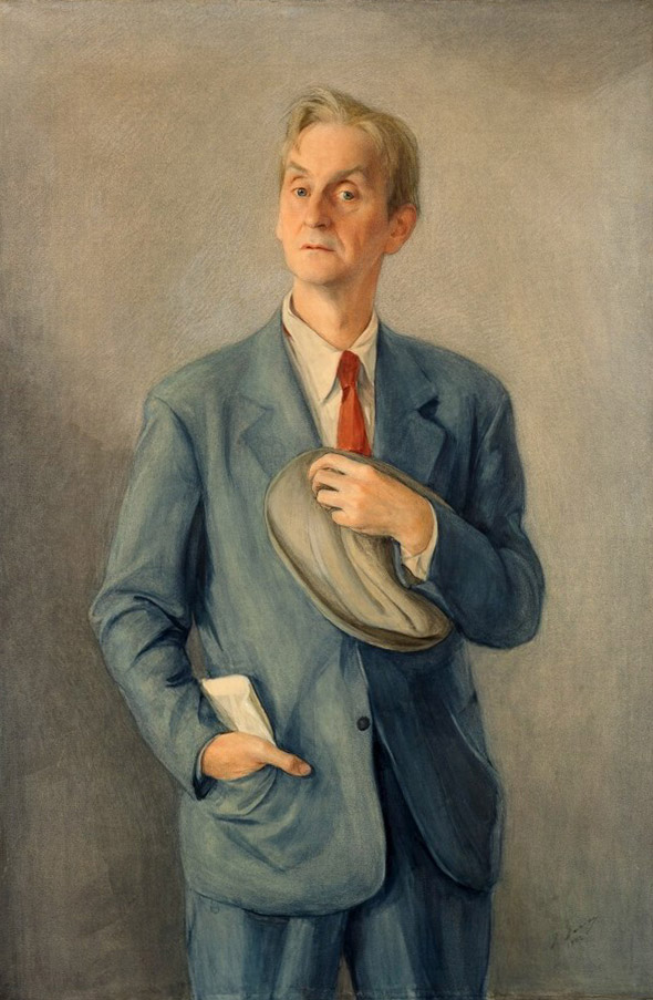18-Portret-Anatoliya-Dyubua-muzhchina-v-shlyape-1942-bum.-na-h.-akrilovaya-kraska-137h91-GTG-671x1024