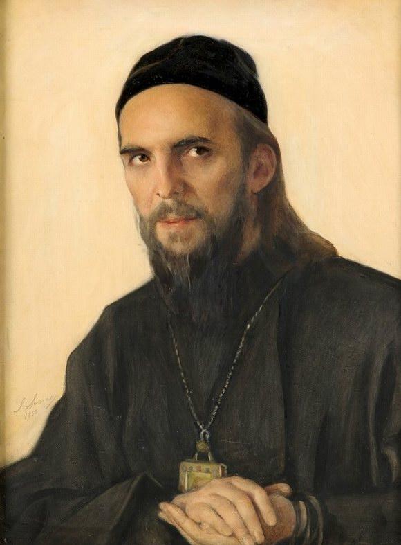 19Potret-arhiepiskopa-San-Frantsisko-I.-SHahovskogo-1950-bum.-na-h.-smesh.-tehn.64h48-GTG-770x1024
