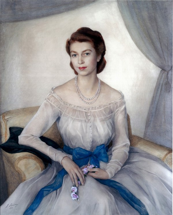 48-Printsessa-Elizaveta-sejchas-koroleva-Velikobritanii-1948-bum.-akv.-133x112-Klarens-haus-London-828x1024