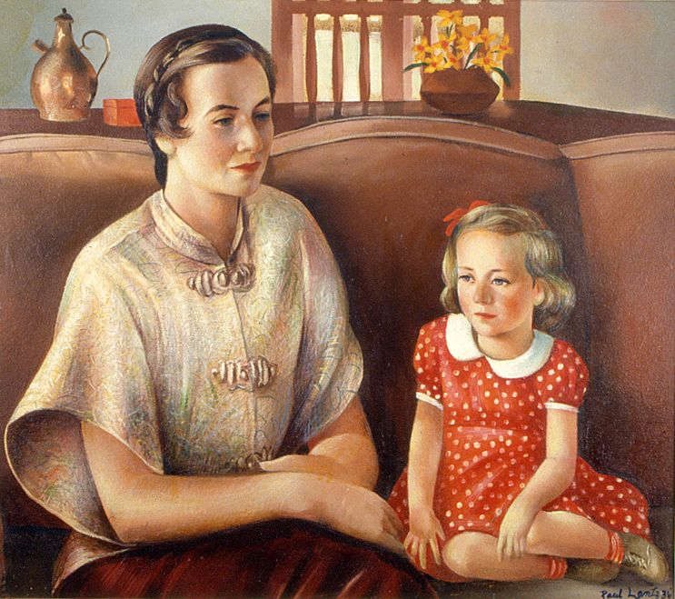 Rosemary Lewis Rife and Her Daughter  1936 Paul Lantz