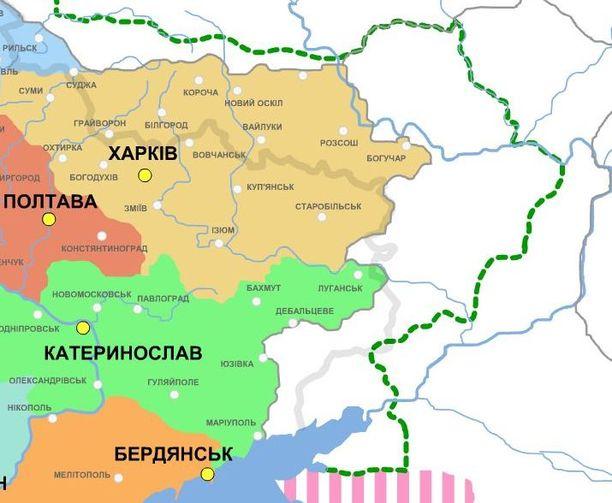 Території, на які претендувала Українська Держава в 1918-му році.