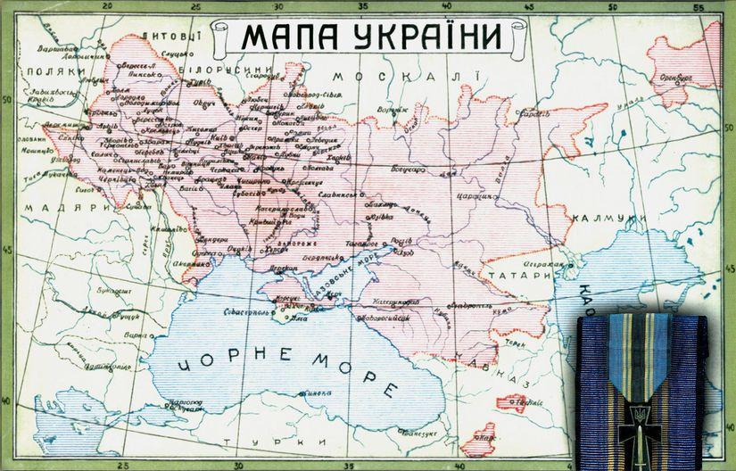 Мапа України 1919-го року.
