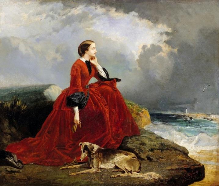 Empress-Eugenie-at-Biarritz-1858