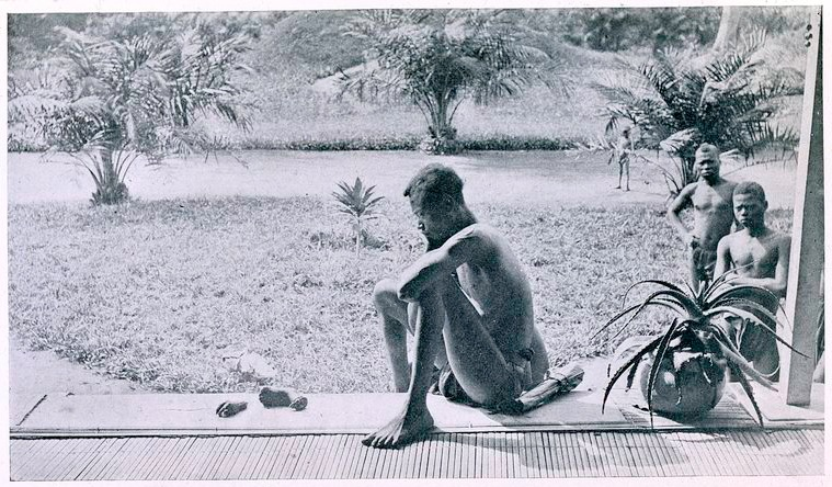 Nsala_of_Wala_in_Congo_looks_at_the_severed_hand_and_foot_of_his_five-year_old_daughter,_1904.jpg