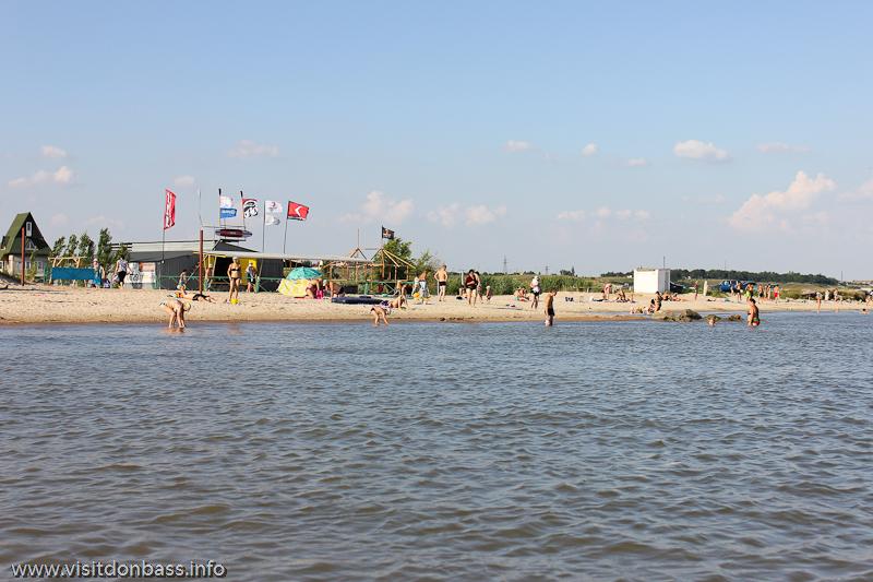 Пляж в Сопино около станции Windsport