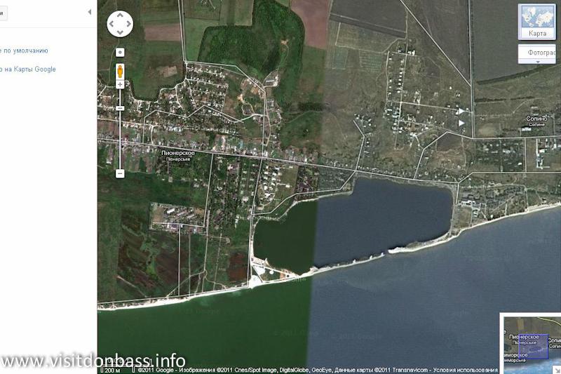 Пляж в Сопино до разрушения песчаного перешейка