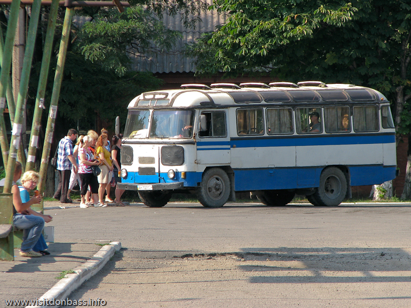 Автостанция Стан 3600 антикварный автобус ПАЗ, фото