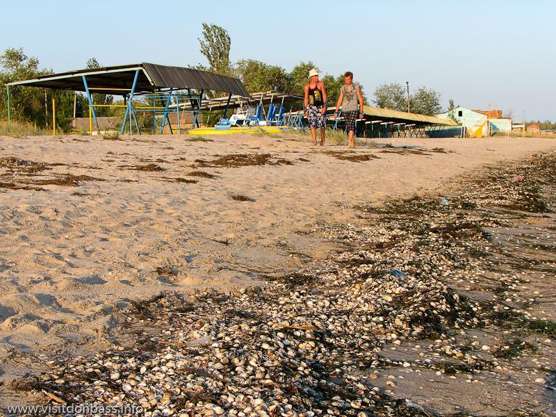 Пляж в Ялте оказался практически пустым