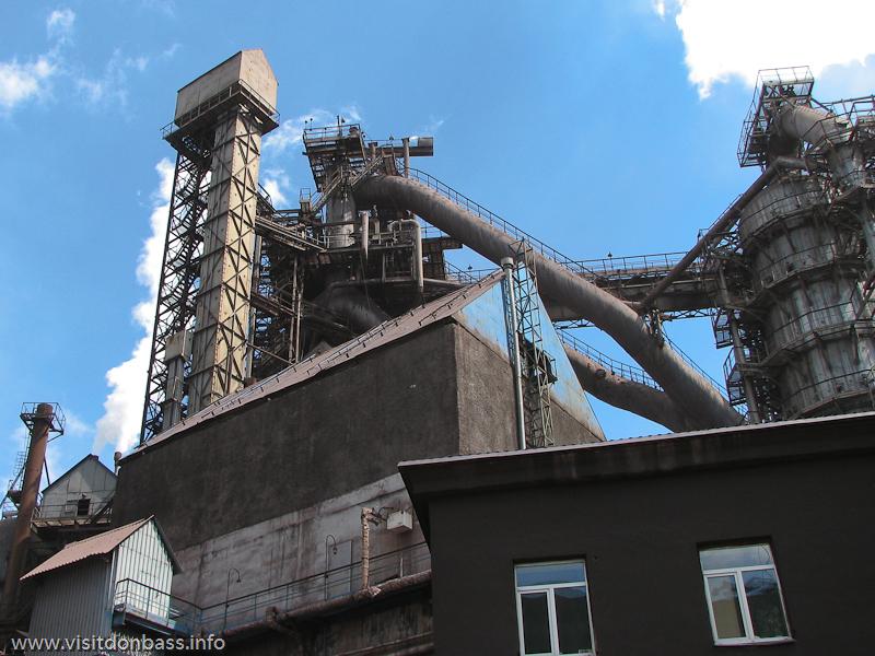 Доменные печи завода Донецксталь - одни из наиболее высокотехнологичных в Украине