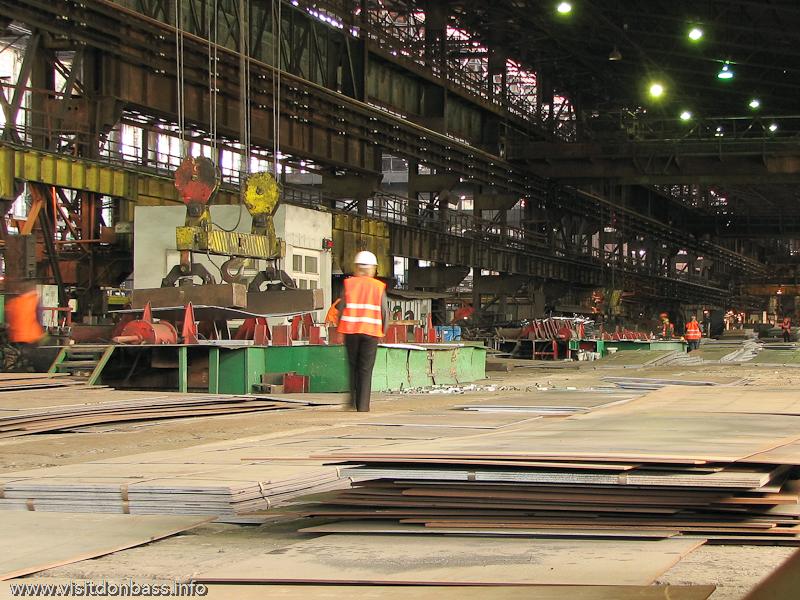 Металлургический завод Донецксталь. Готовая продукция и опасное производство. Листопрокатный цех