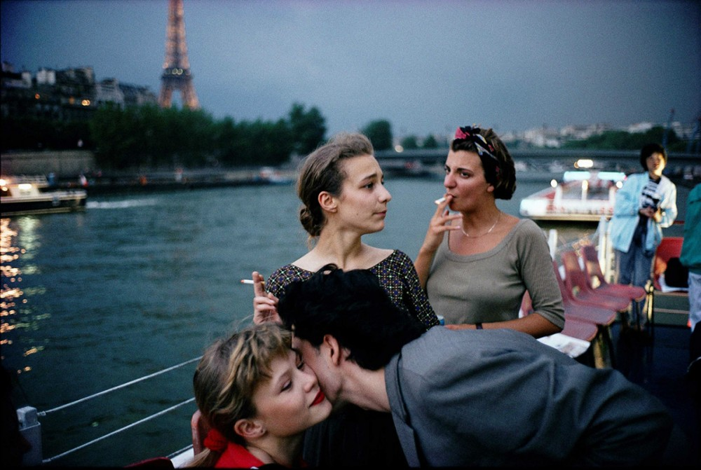 French teenagers on a boat in Paris by David Alan Harvey 1988