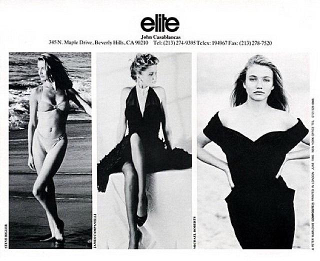 Modeling card from Elite LA 1990 — копия