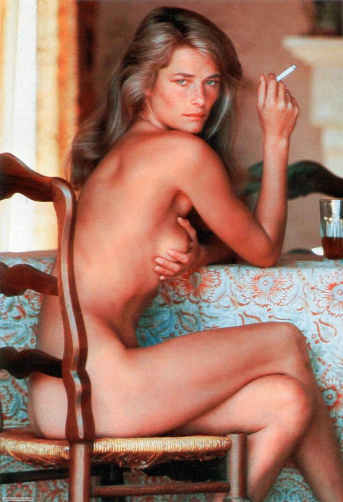 Charlotte Rampling by Helmut Newton for Playboy '1974
