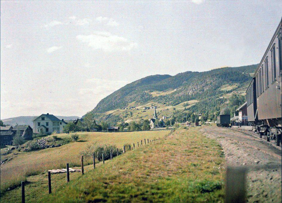 1910 Norway Aurdal station by August Leon