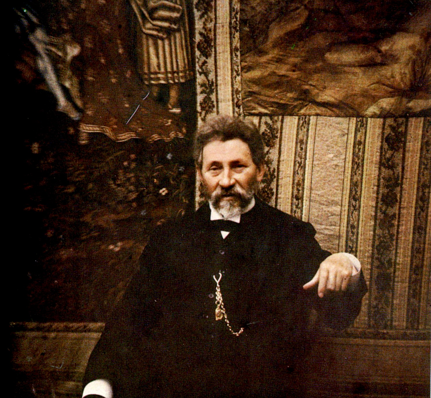 1910 Илья Репин на фото Леонида Андреева