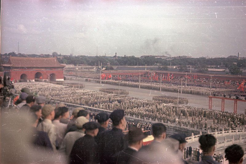 1959 Первомайский парад на площади Тяньаньмэнь.