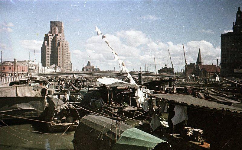1949 Shanghai. Микоша. Жизнь на канале
