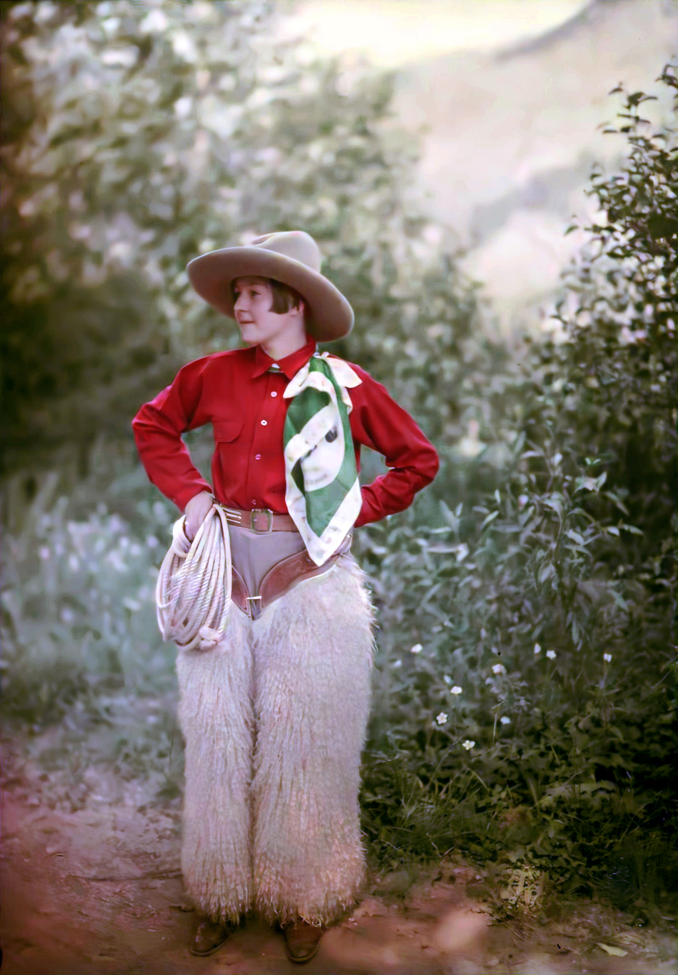 1910 cowgirl by Mrs Benjamin F. Russell