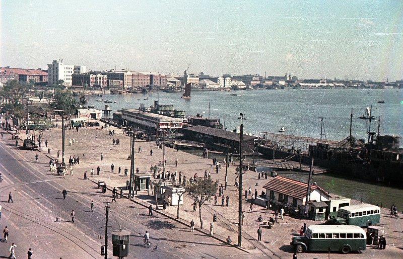 1949 Shanghai. Микоша. Набережная реки Вампу