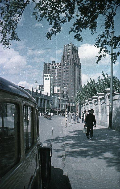 1949 Shanghai. Микоша. Нанкинская улица
