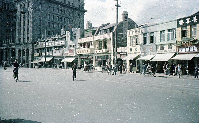 1949 Shanghai. Микоша. Нанкинская улица2
