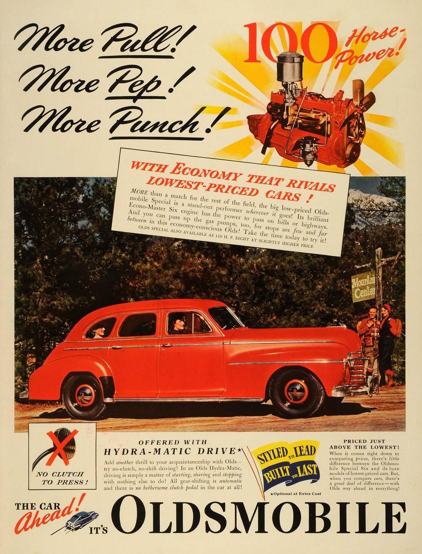 В рекламе Oldsmobile 1940-го года перед нами модельный ряд как актуального 1940-го, так и наступающего 1941-го2