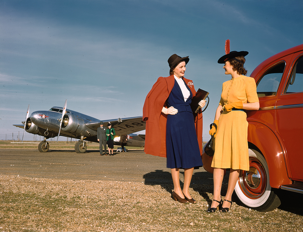 1940 Models with Oldsmobile Automobile, Lockheed 10B Electra, Delta Air Lines