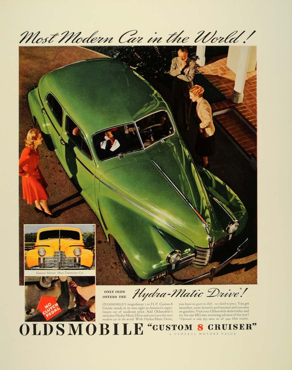 В рекламе Oldsmobile 1940-го года перед нами модельный ряд как актуального 1940-го, так и наступающего 1941-го3
