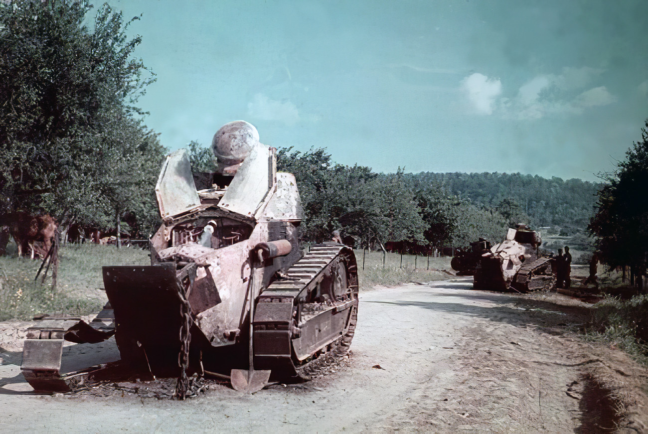 1940 брошенные французские танки