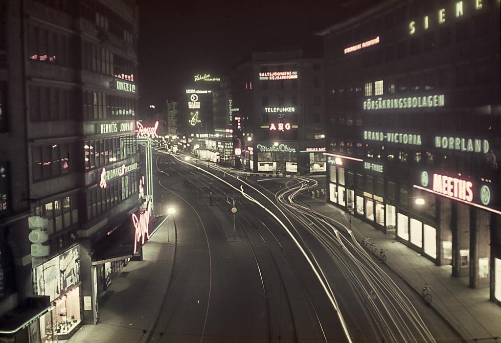 1940 Stockholm by night