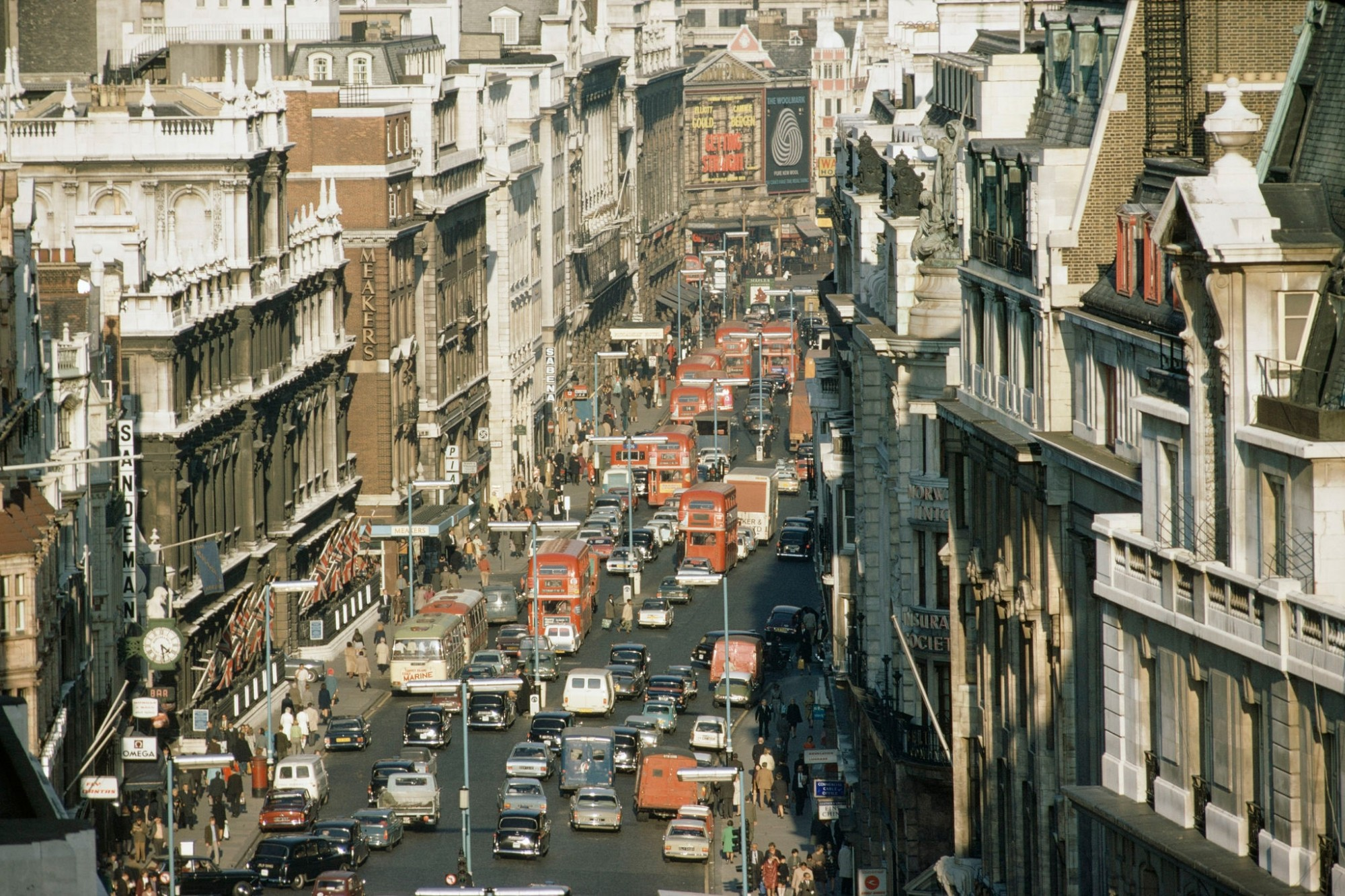 1970 London Piccadilly Traffic