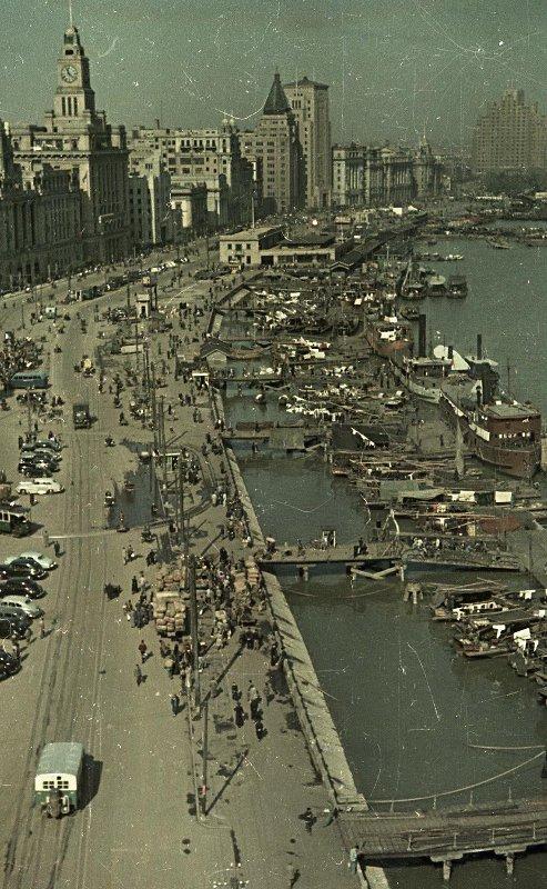 1949 Shanghai. Набережная реки Вампу - Вайтань. Деловой район Шанхая2