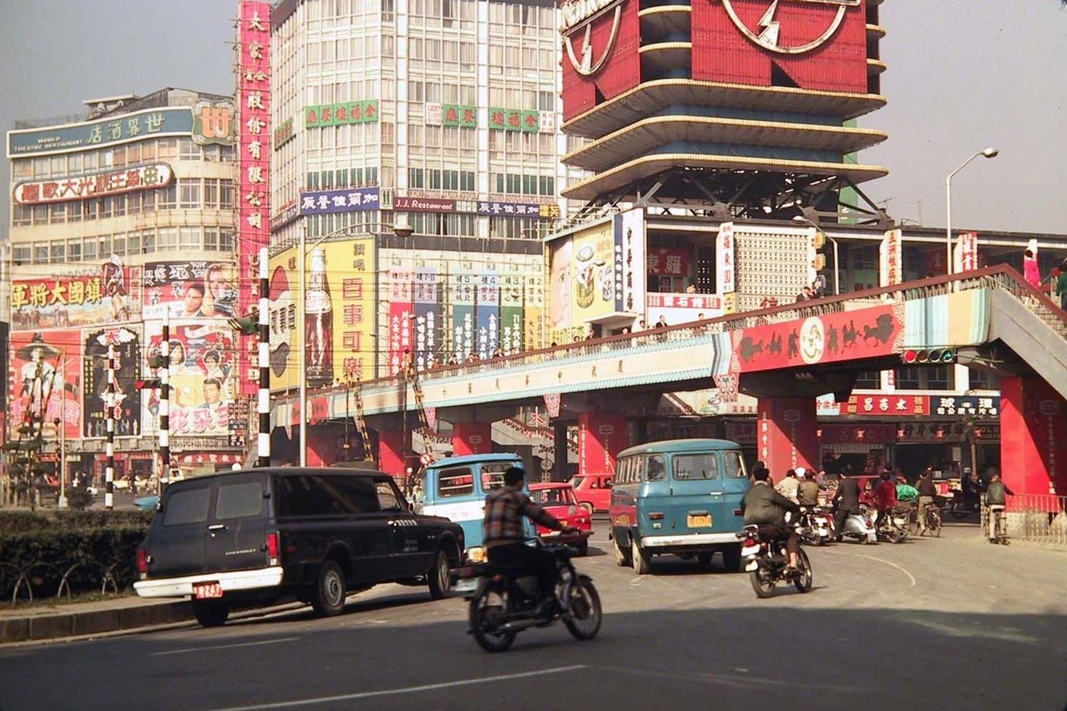 1970 Taipei Shimending traffic circle by N. Carpenter