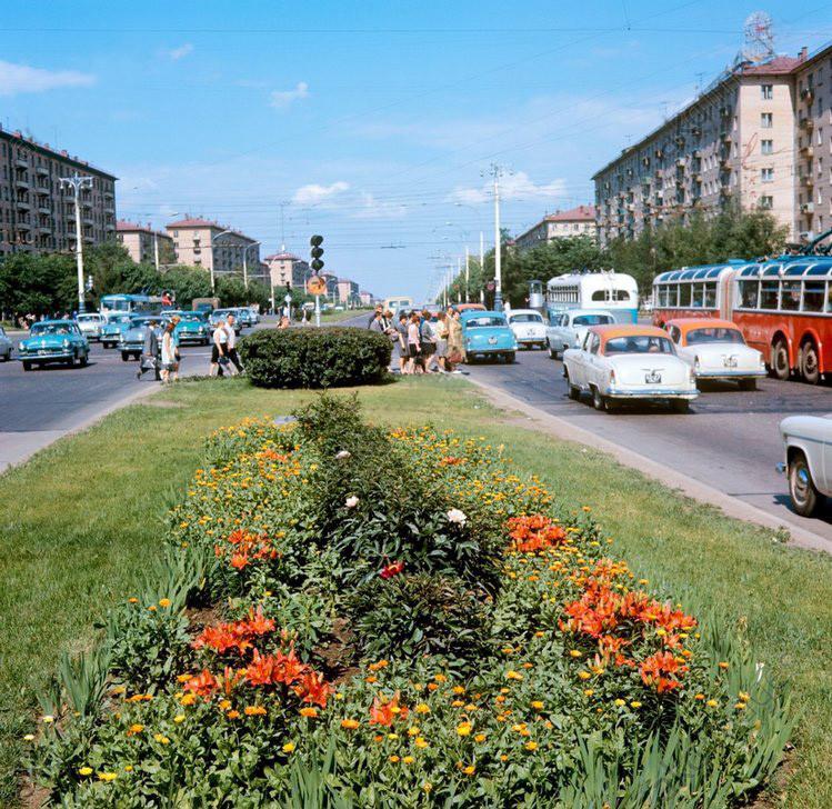 Москва, Ленинский проспект, 1970 год