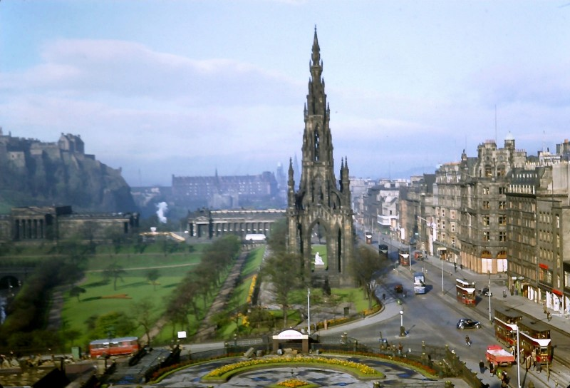 1950 Edinburgh East Princes Street Gardens