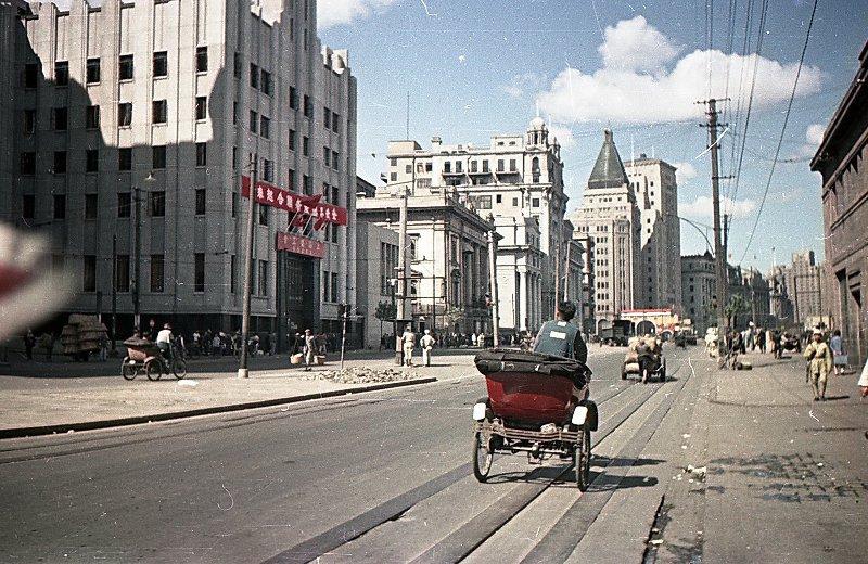 1949-50 Shanghai. Микоша. Набережная Вайтань