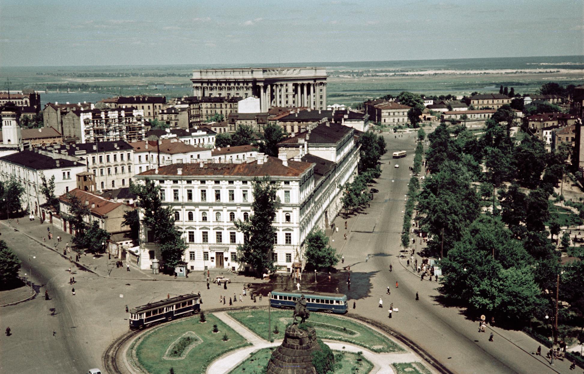 1950 Киев. Площадь Богдана Хмельницкого