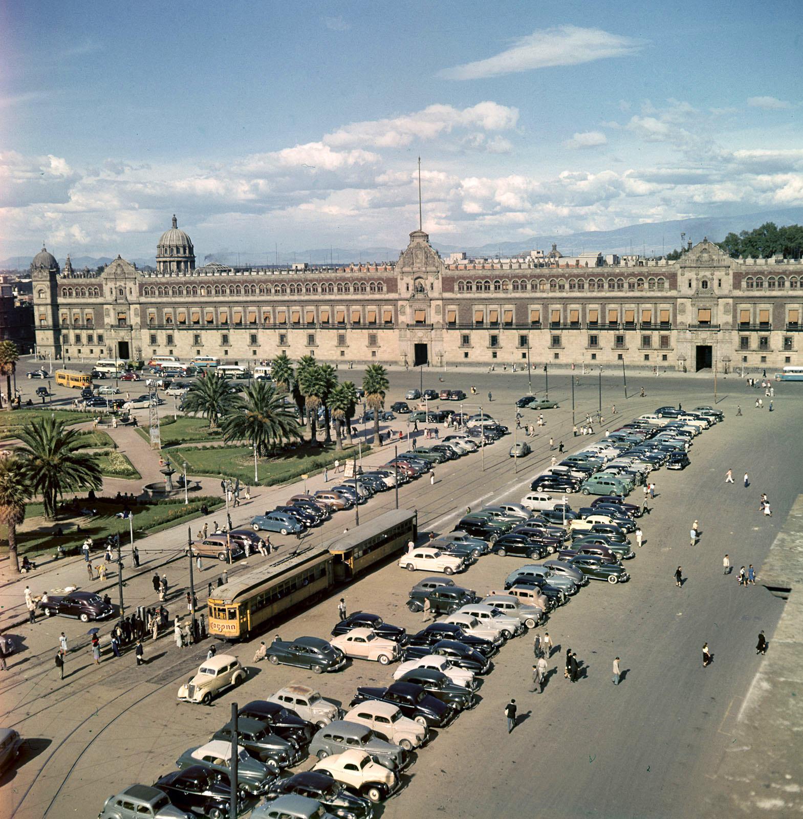 1950c Mexico Vista del Palacio Nacional by Juan Guzman2