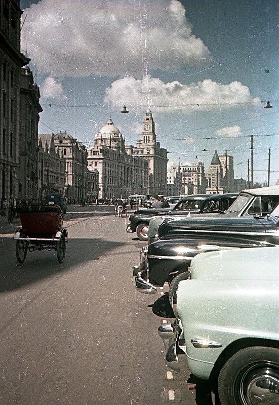 1949-50 Shanghai. Микоша. Набережная Вайтань3