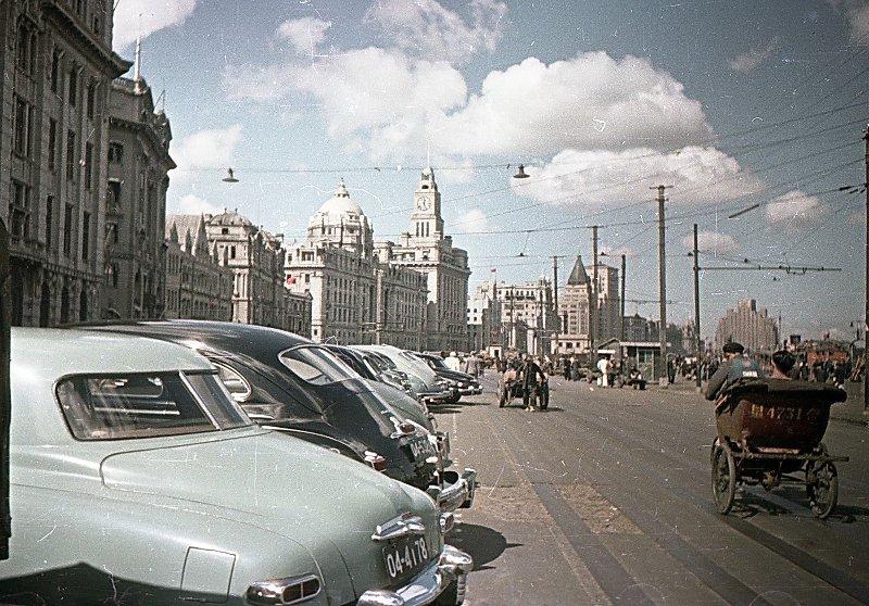 1949-50 Shanghai. Микоша. Набережная Вайтань4