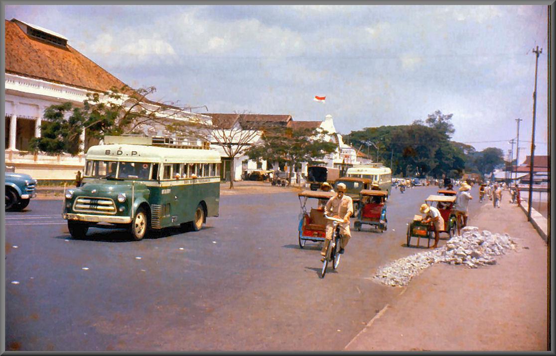 1960 Jakarta streetscene