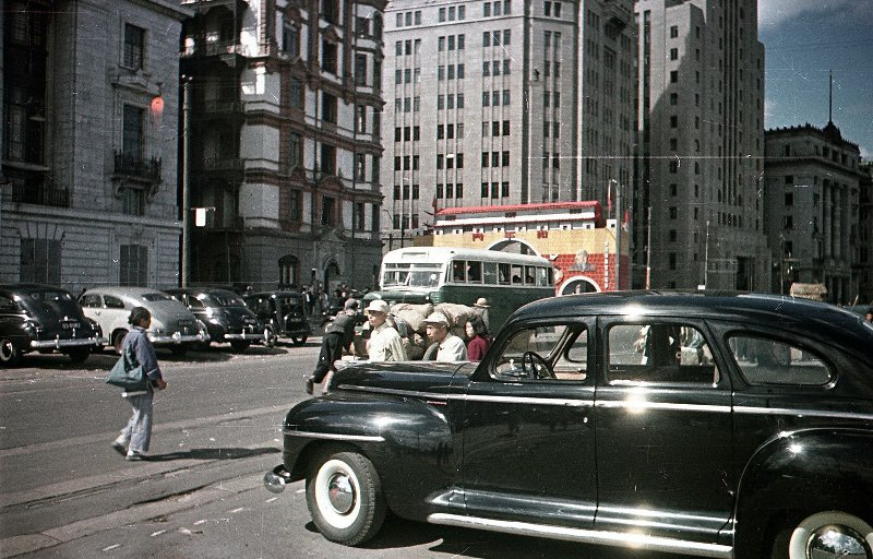 1949-50 Shanghai. Микоша. Набережная Вайтань6