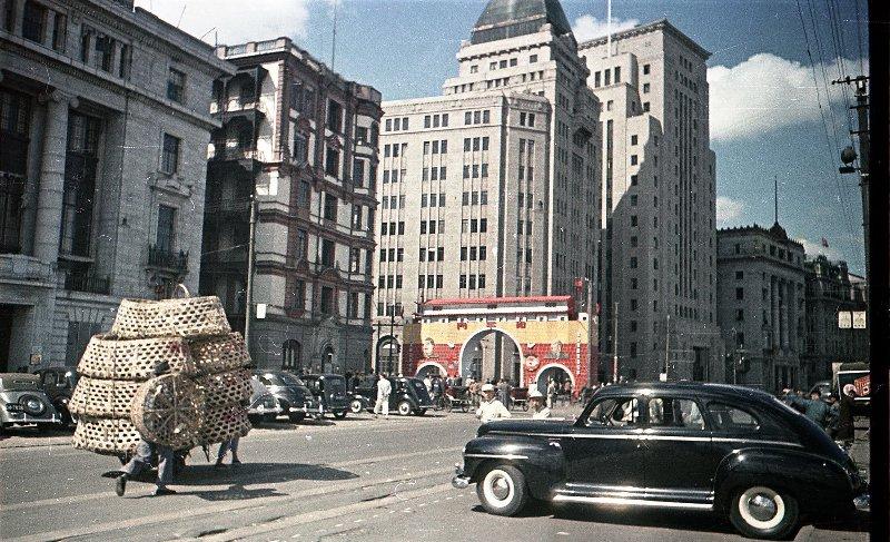 1949-50 Shanghai. Микоша. Набережная Вайтань7