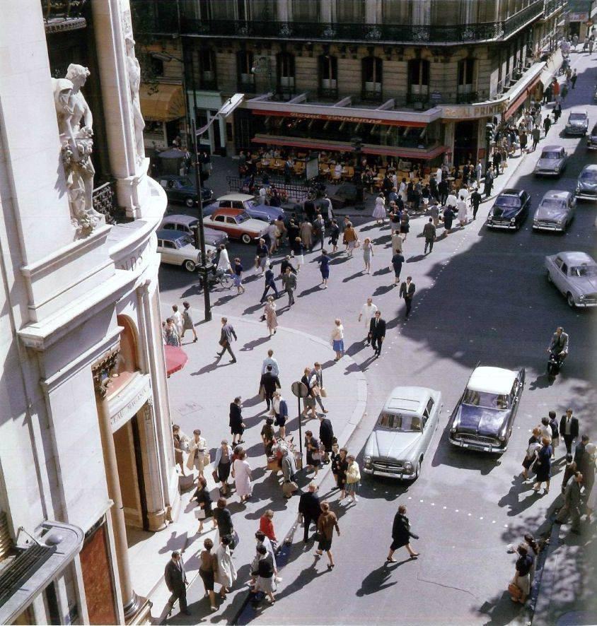 1960 Paris Au coin de la rue Caumartin et du boulevard Haussmann