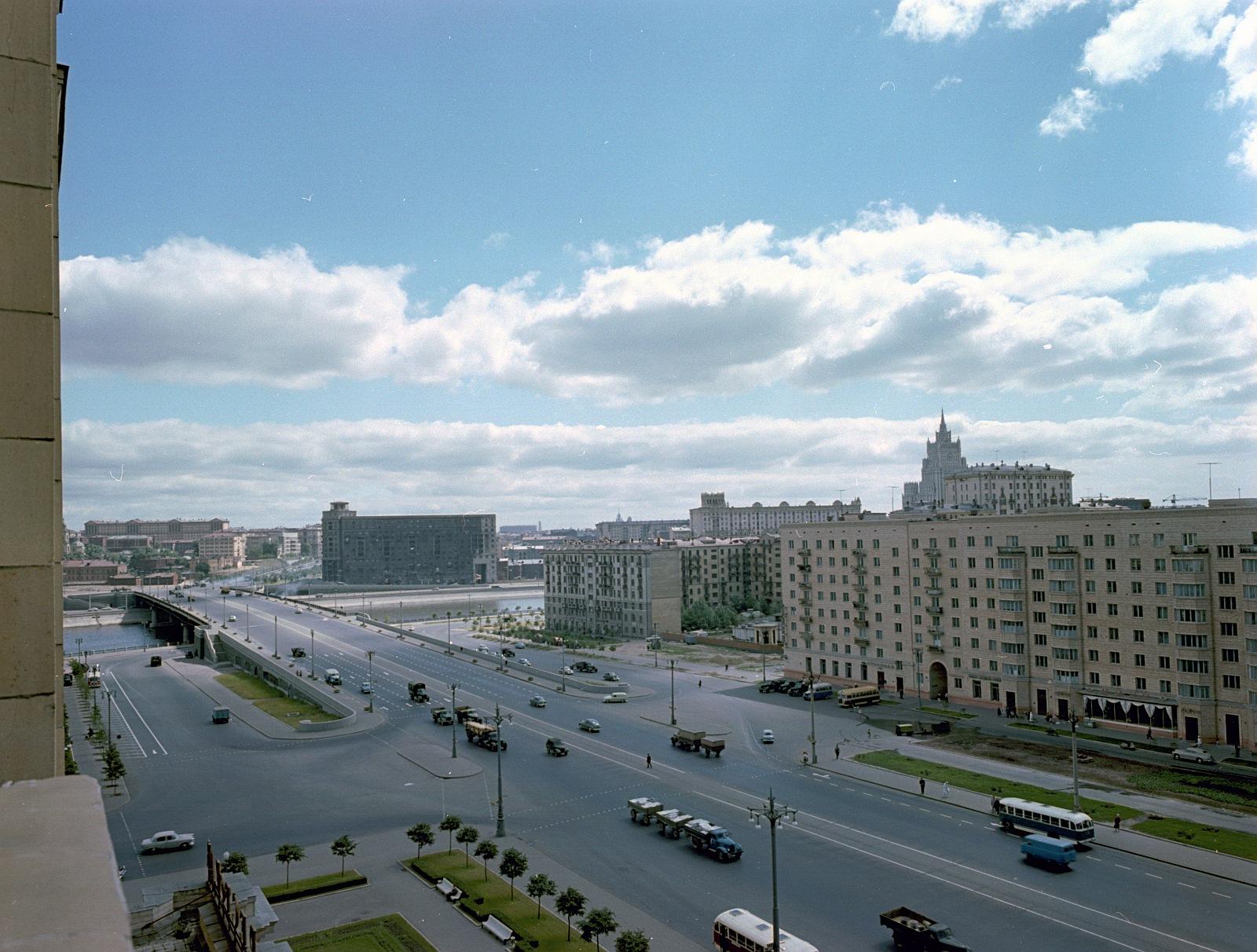 1960 Вид из гостиницы Украина Wolfgang G. Schröter