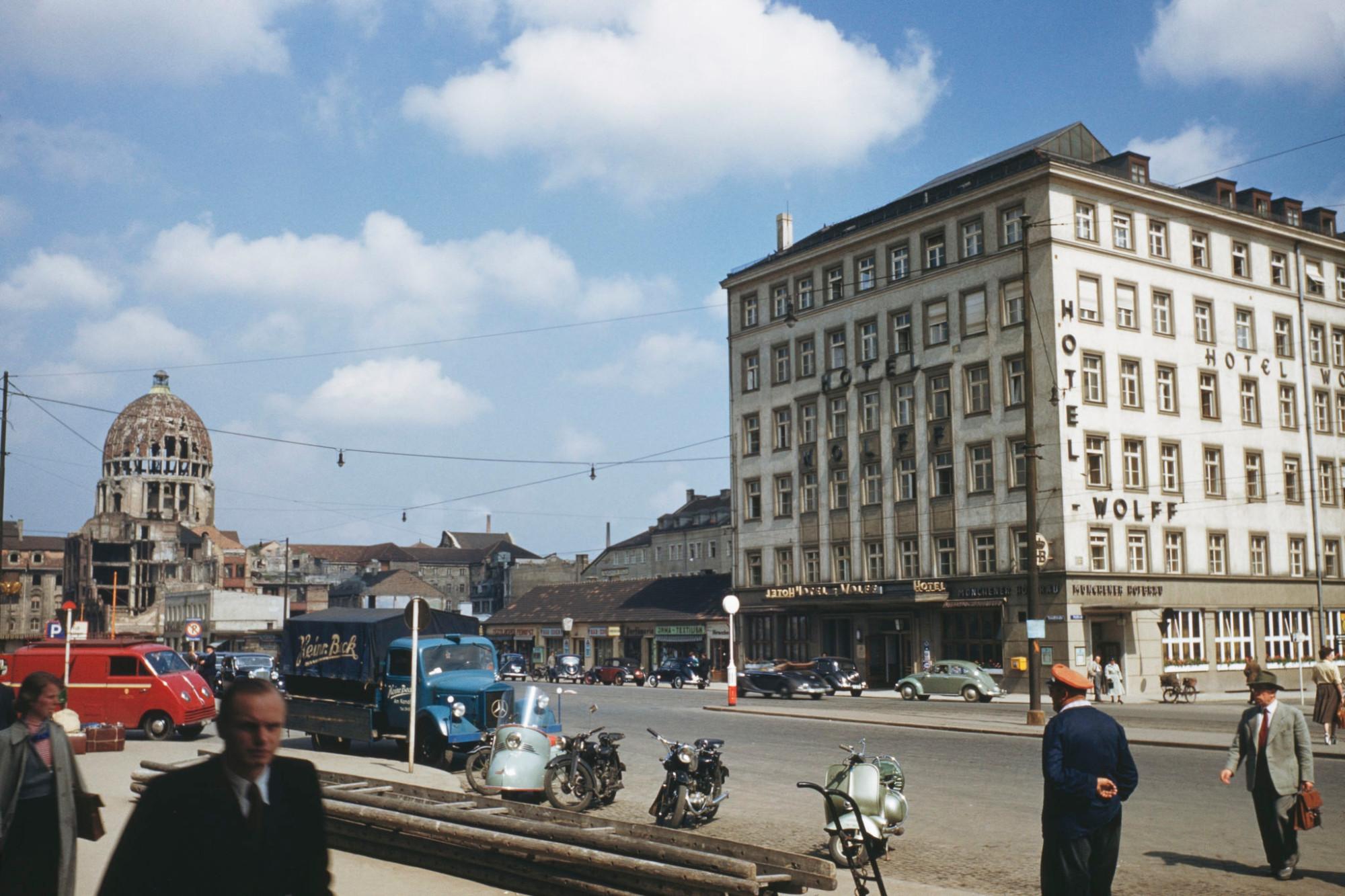 1960c Munich Hotel Wolff on the Arnulfstrasse in Munich by Emil Muench