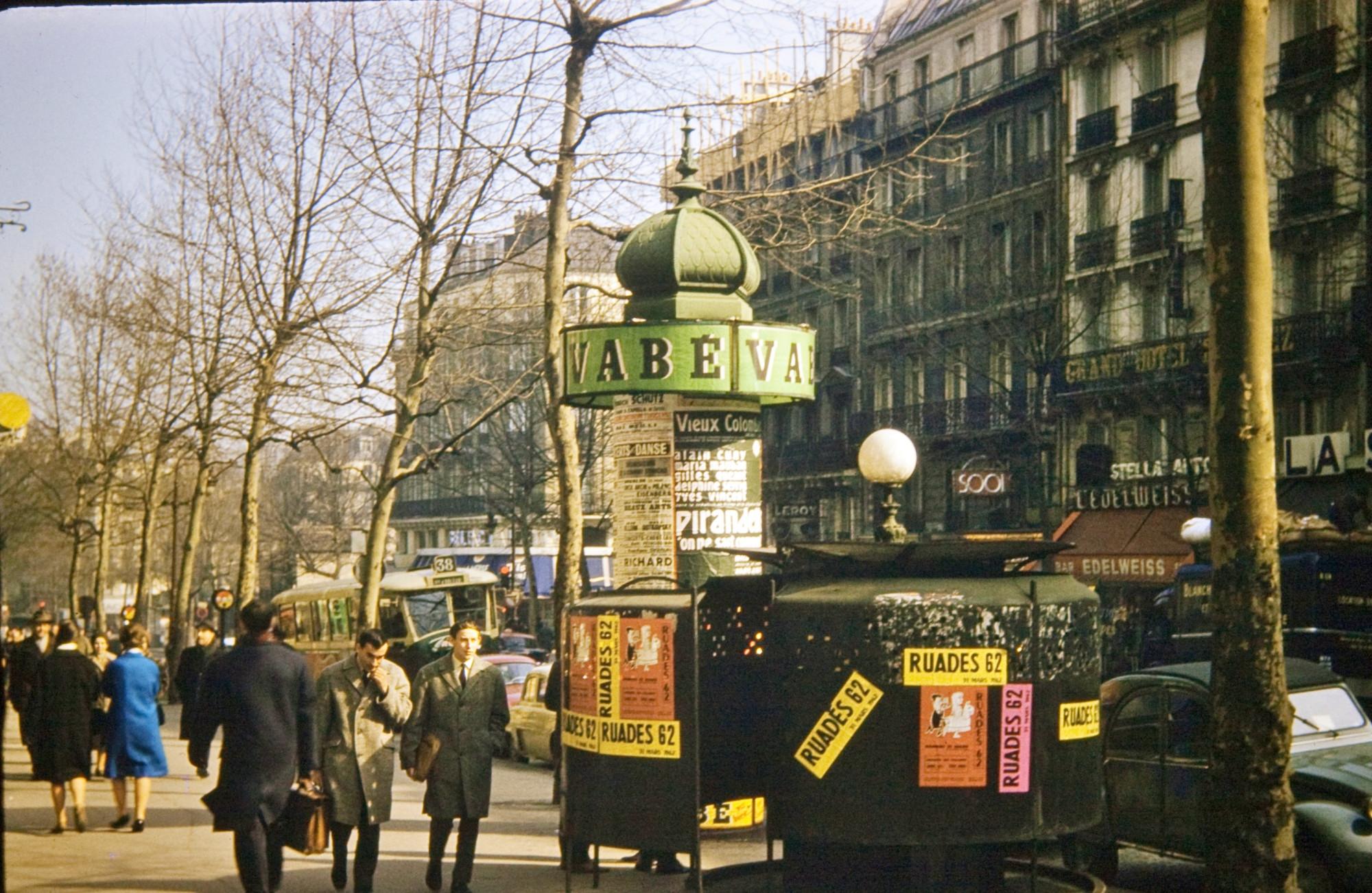 1960c Paris Boulevard St Michele