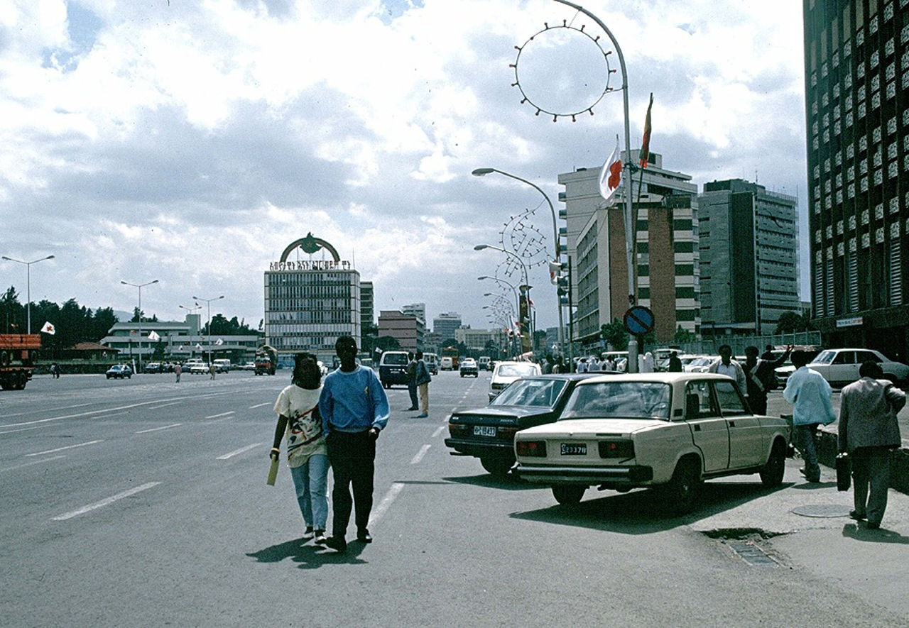 1990 Addis Ababa, Meskel Square by Roger Viollet